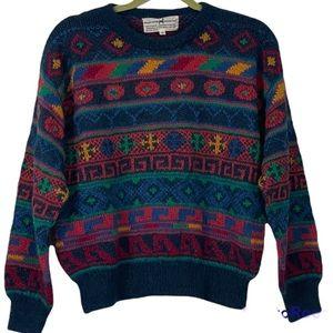 The Peruvian Connection Multicolored Alpaca Pullover Sweater